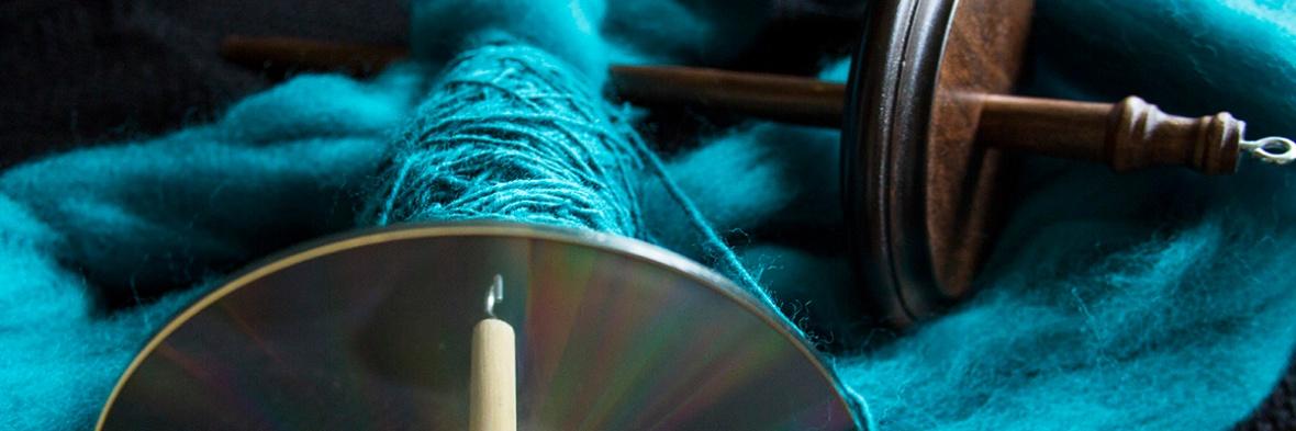Spindles and aqua yarn creation